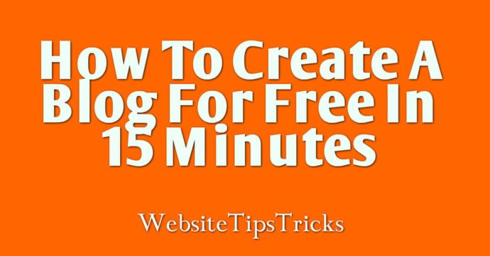 How to create a blog in 15 minutes