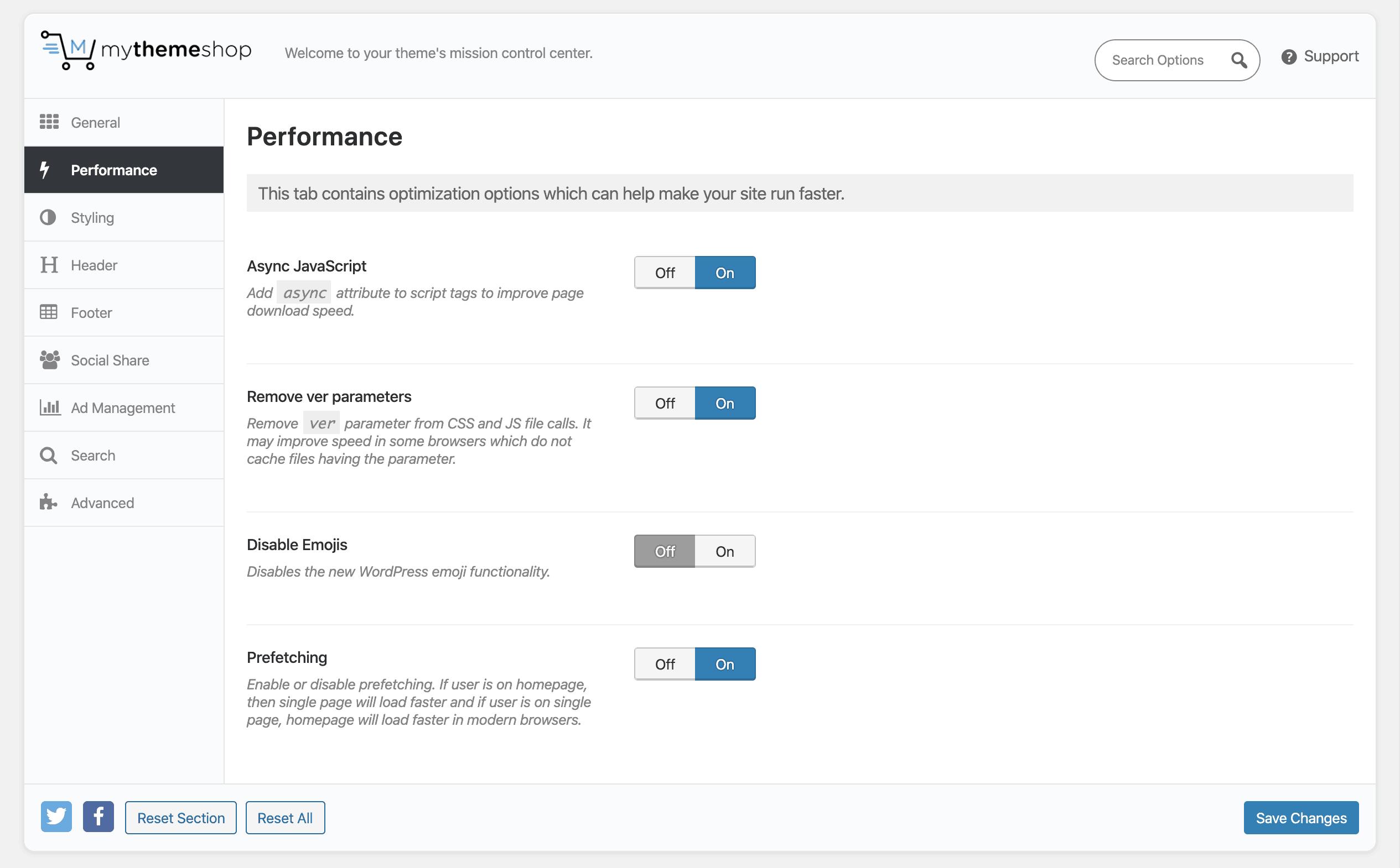 MyThemeShop Options Panel