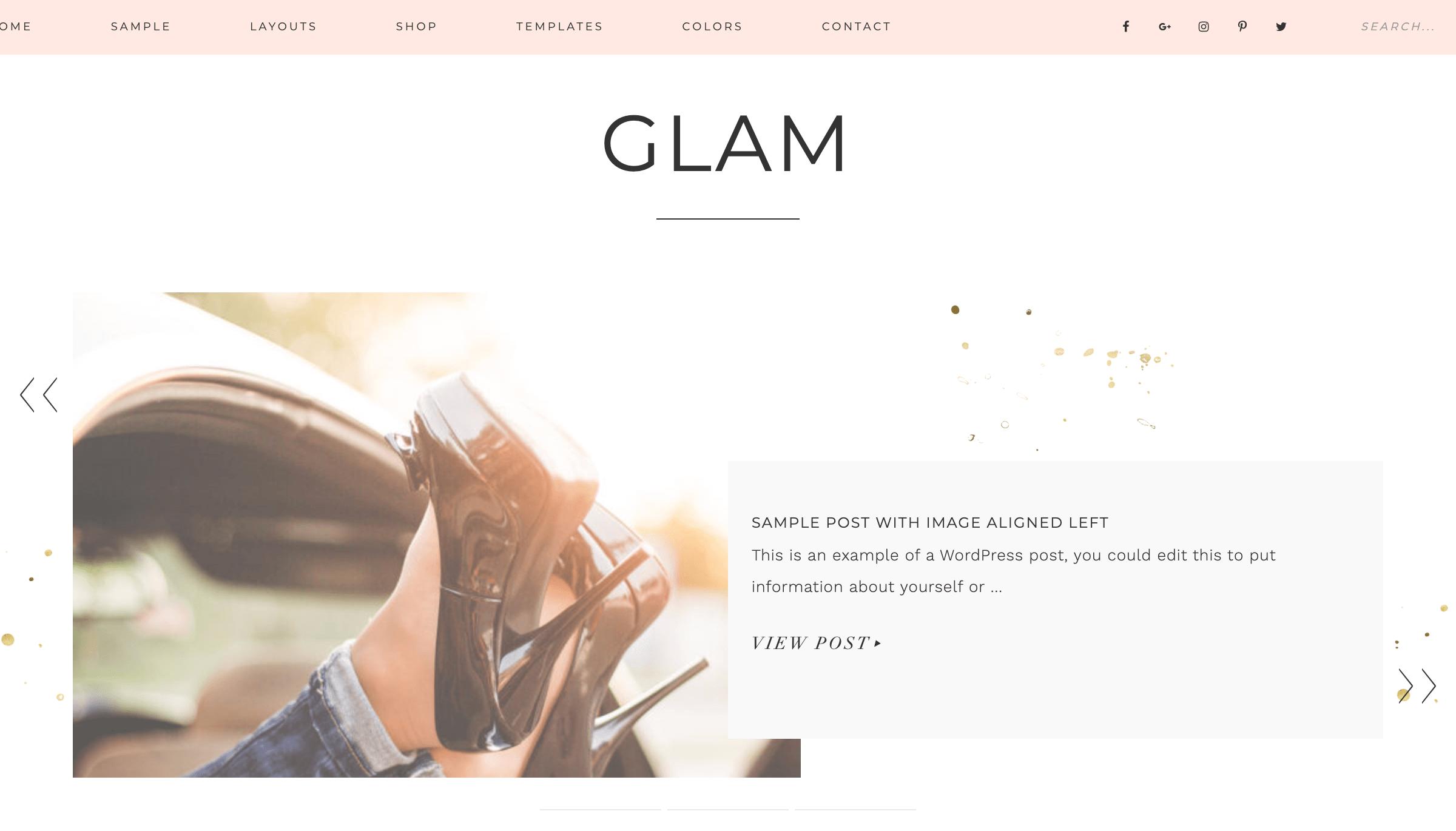 Glam Pro WordPress Theme