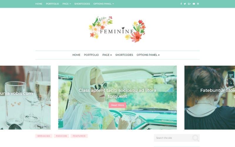 MTS Feminine WordPress Theme For Bloggers
