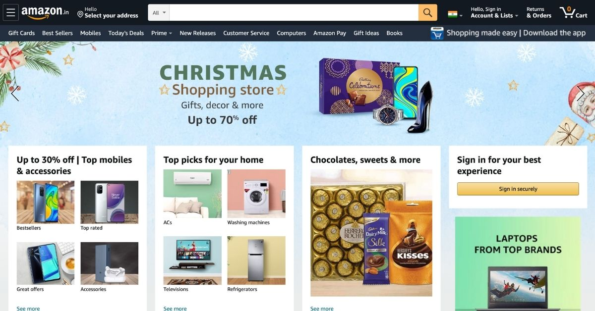 Amazon.in Top Online Shopping Sites in India