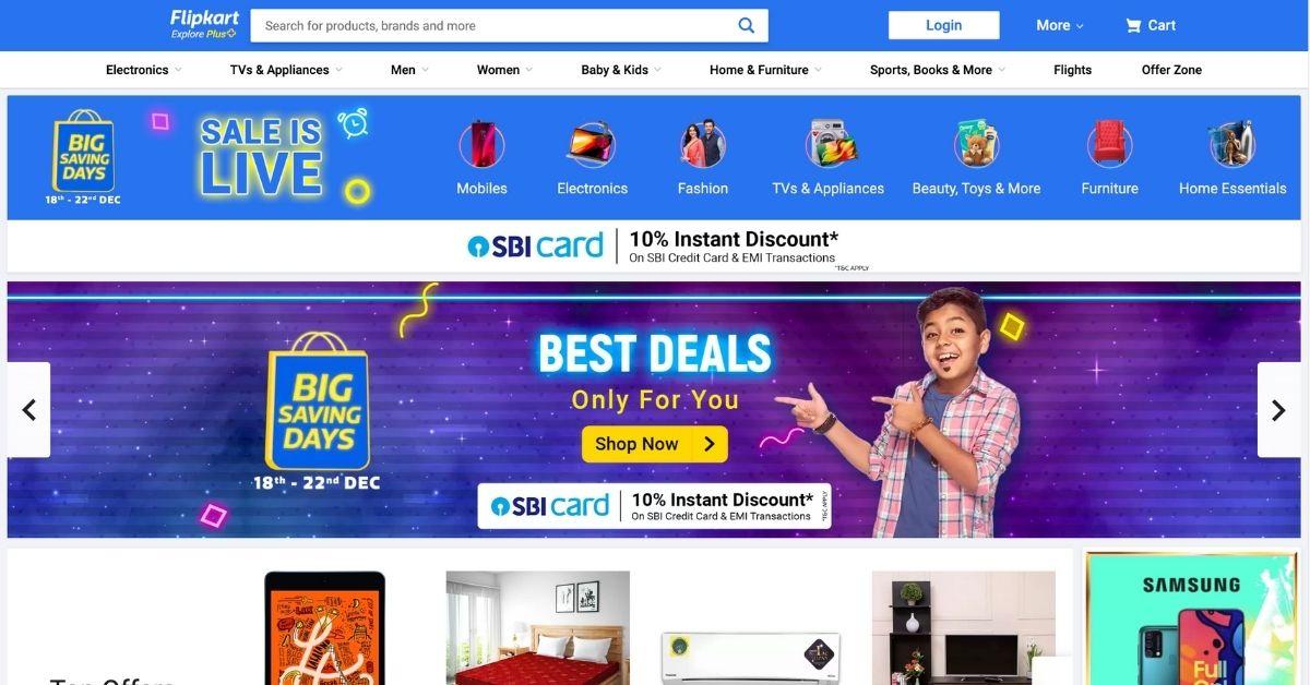 Flipkart Top Online Shopping Sites in India