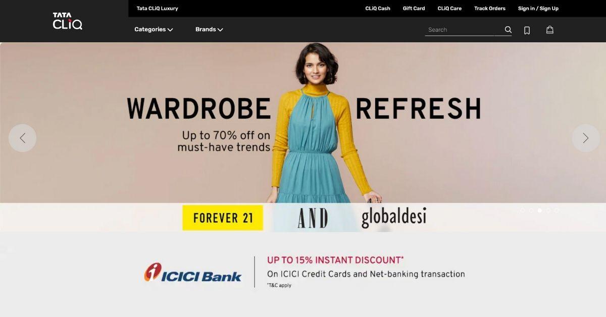 Tata CLiQ Top Online Shopping Sites in India