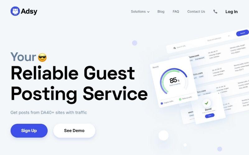 Adsy Premium Guest Posting Service