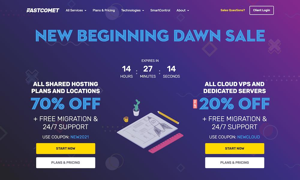 Fastcomet Web Hosting Sale Feb 2021