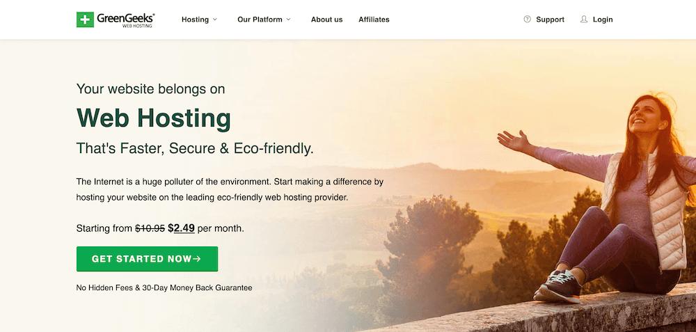 GreenGeeks Managed WordPress Hosting