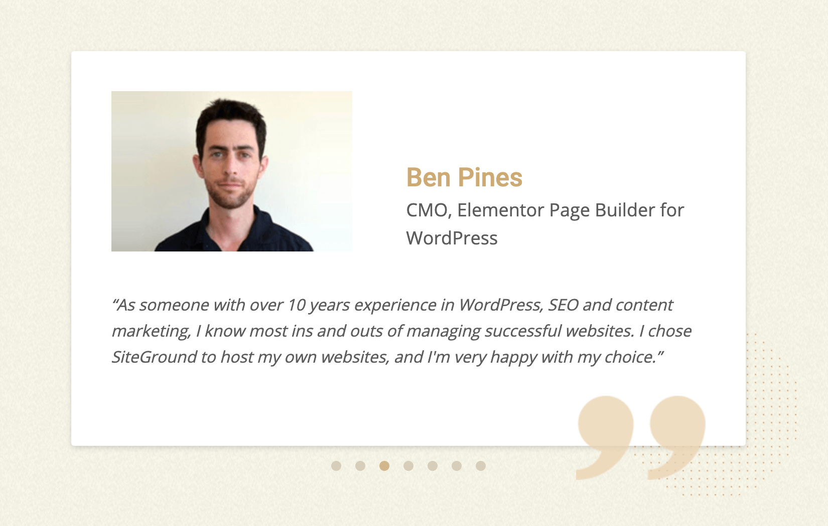 Ben Pines – CMO of Elementor WordPress Plugin