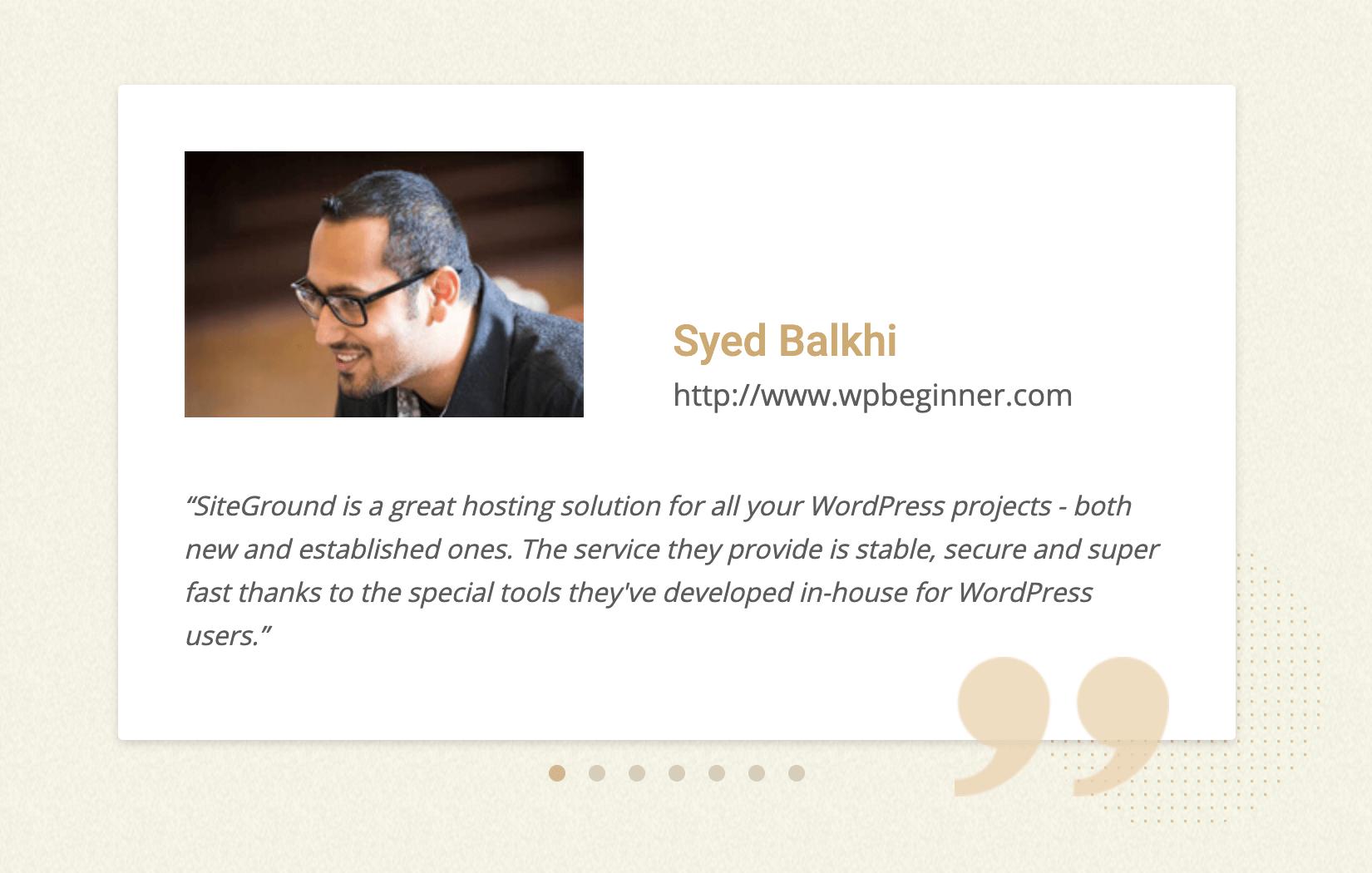 Syed Balkhi – Founder of WPBeginner