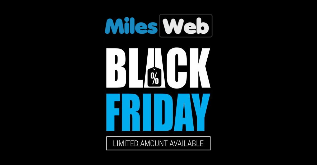 Milesweb Black Friday offer