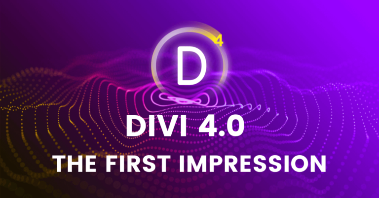 Divi Visual Builder 4.0 Review | The First Impression