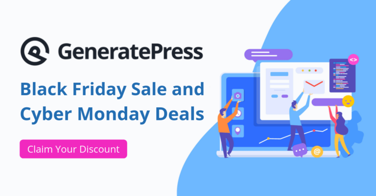 GeneratePress Black Friday Sale 2020 | Up to $40 Off on New GP Premium + 45% Renewal and Upgrade Discounts
