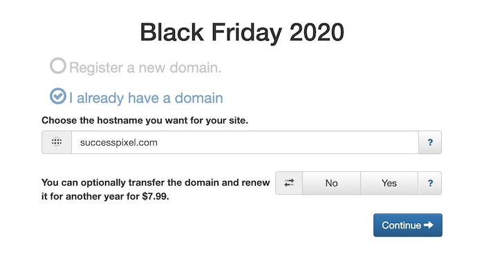 InterServer Black Friday 2020-Register a Domain Name
