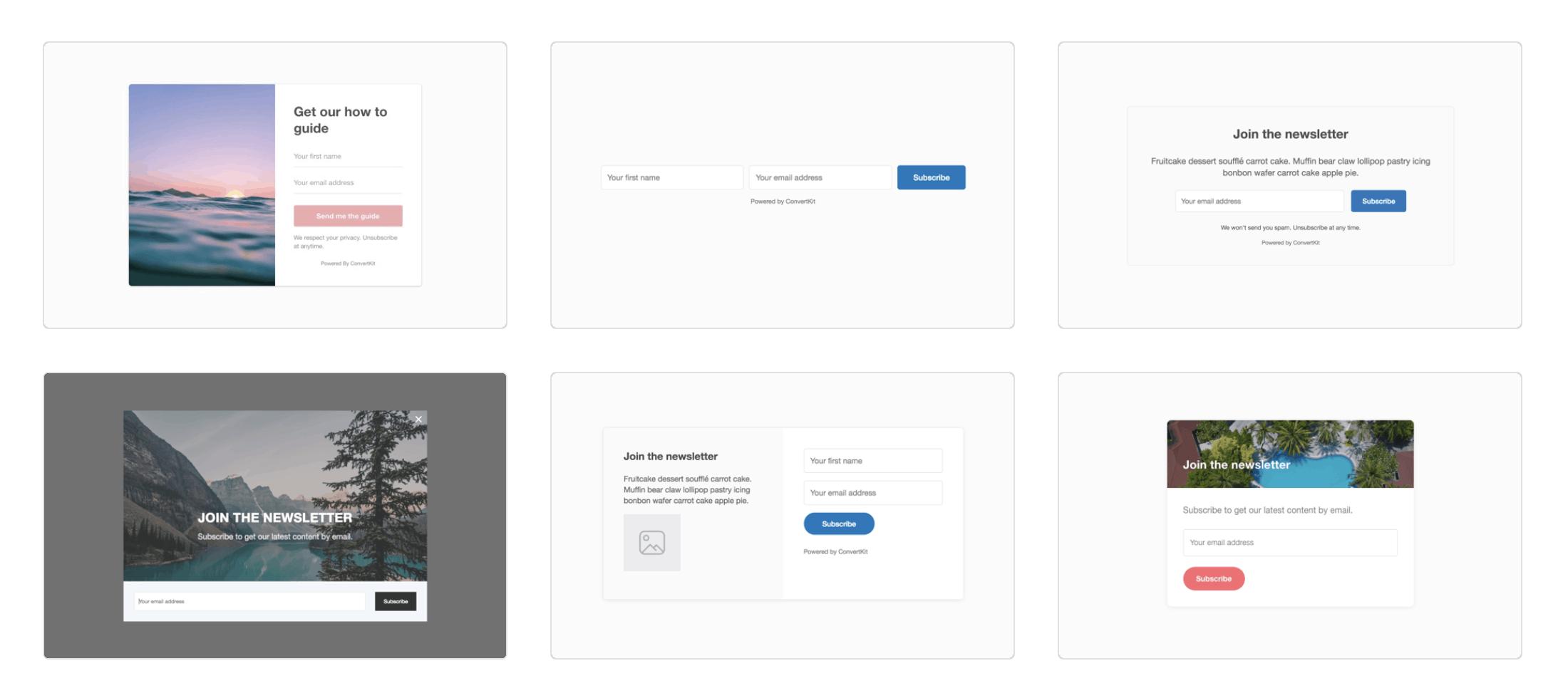 ConvertKit Forms Templates