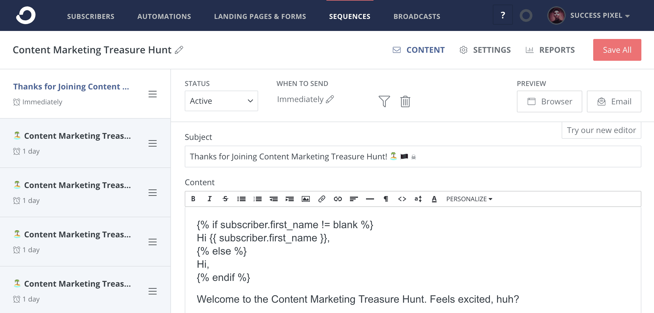 ConvertKit Sequences