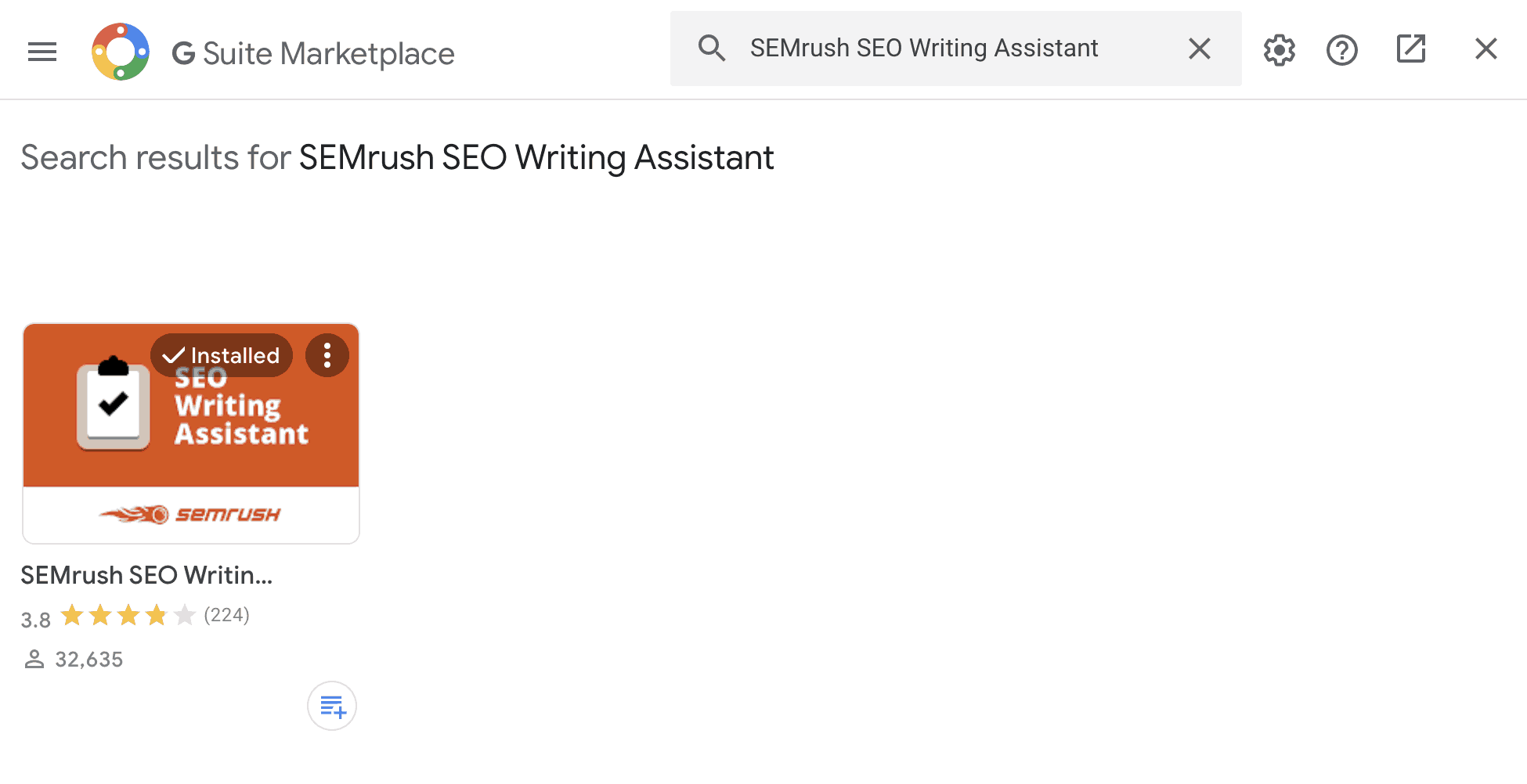 SEMrush SEO Writing Assistant Google Docs Add-on