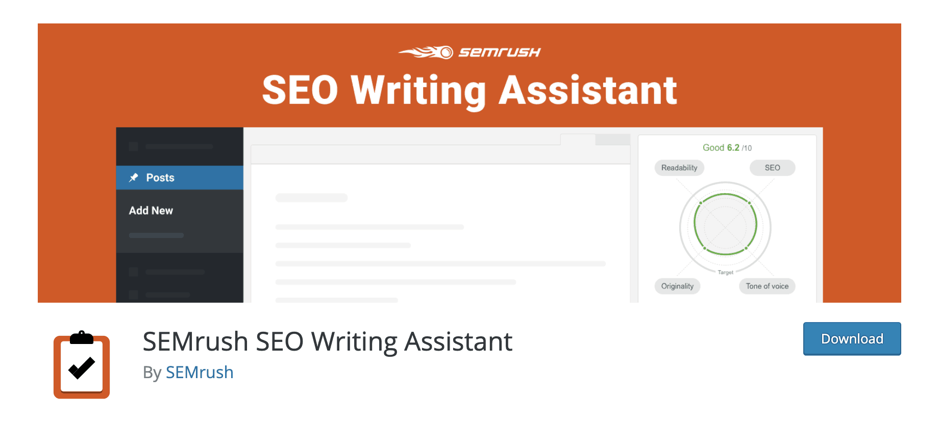 SEMrush SEO Writing Assistant WordPress Plugin