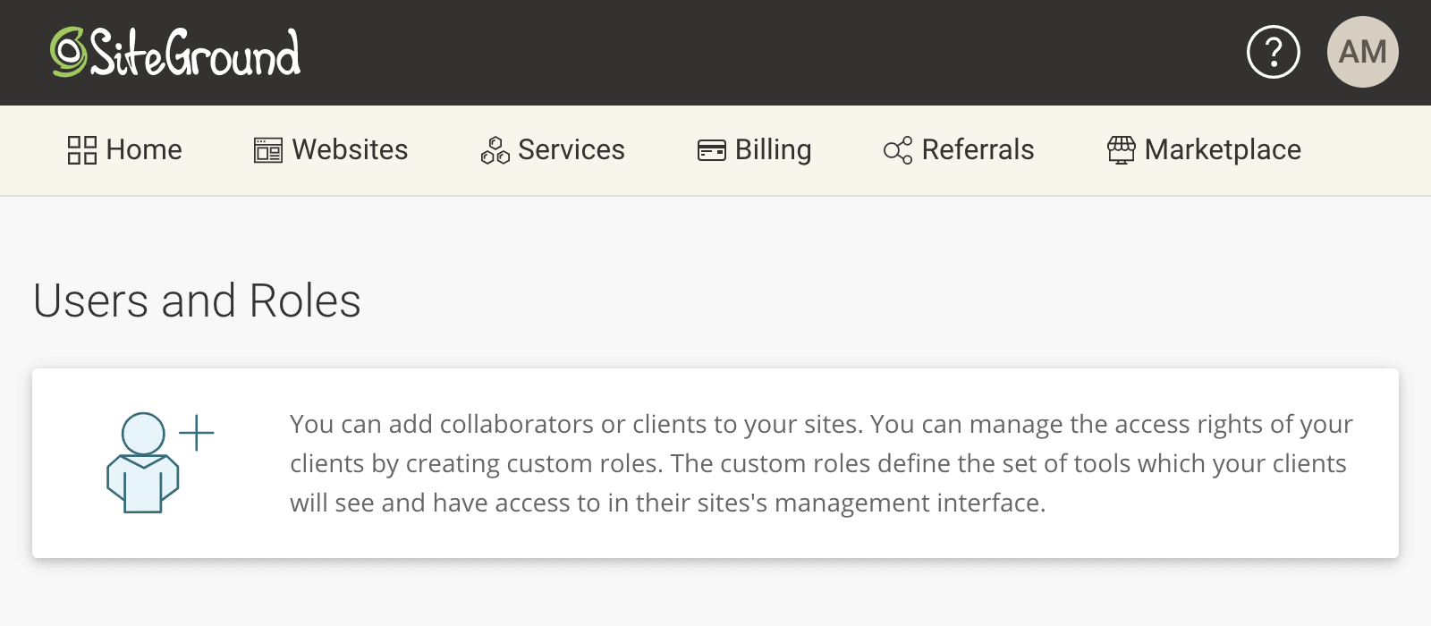 Adding Collaborators in SiteGround Hosting Account
