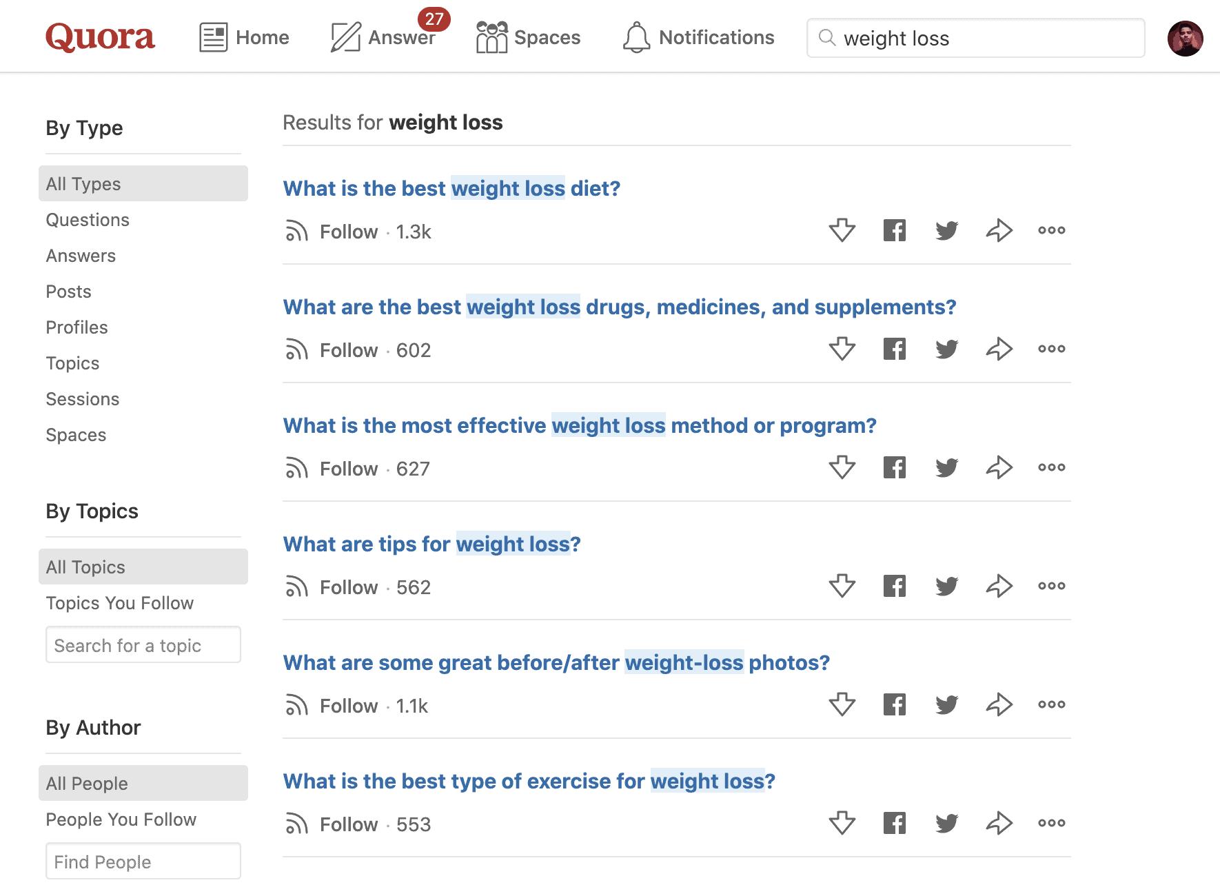 Quora Topic Search