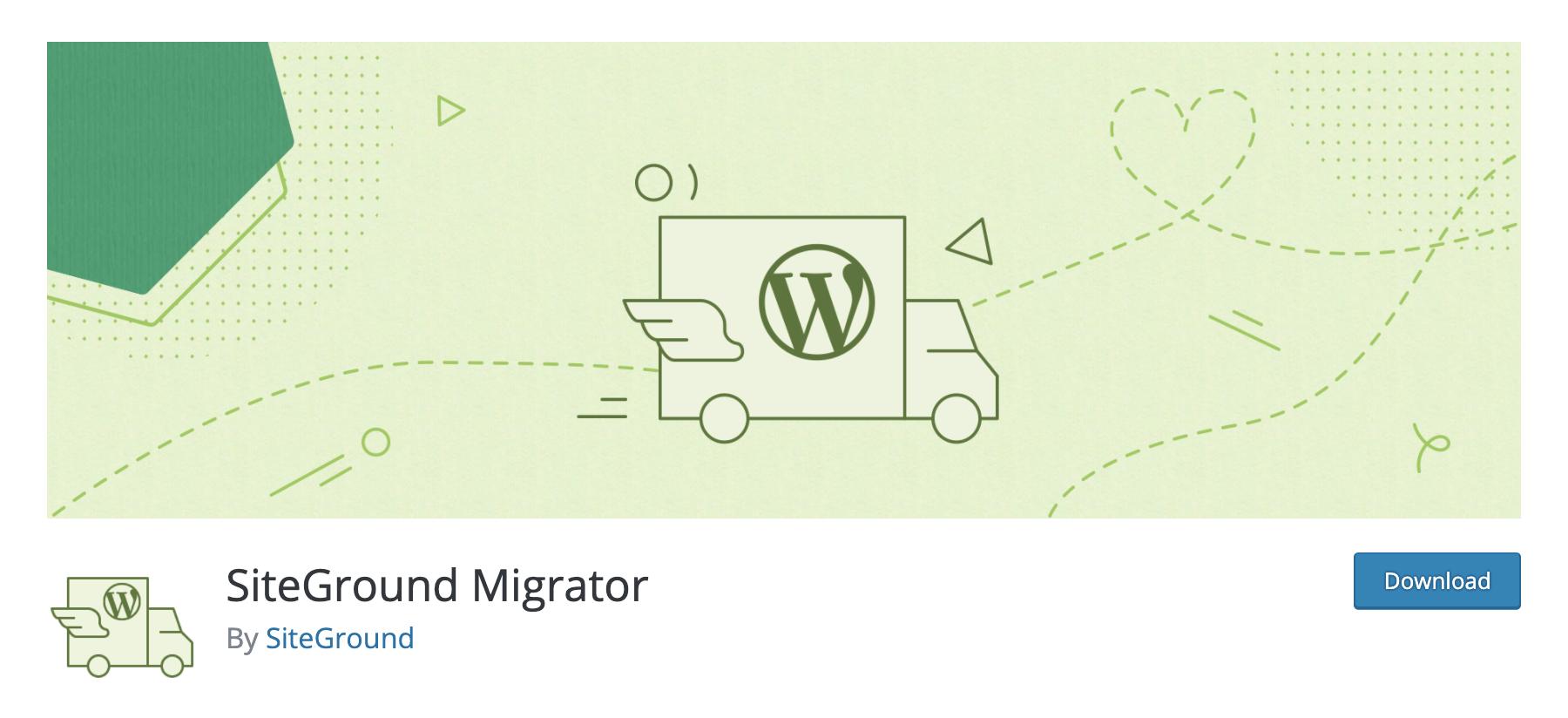 SiteGround Migrator WordPress Plugin