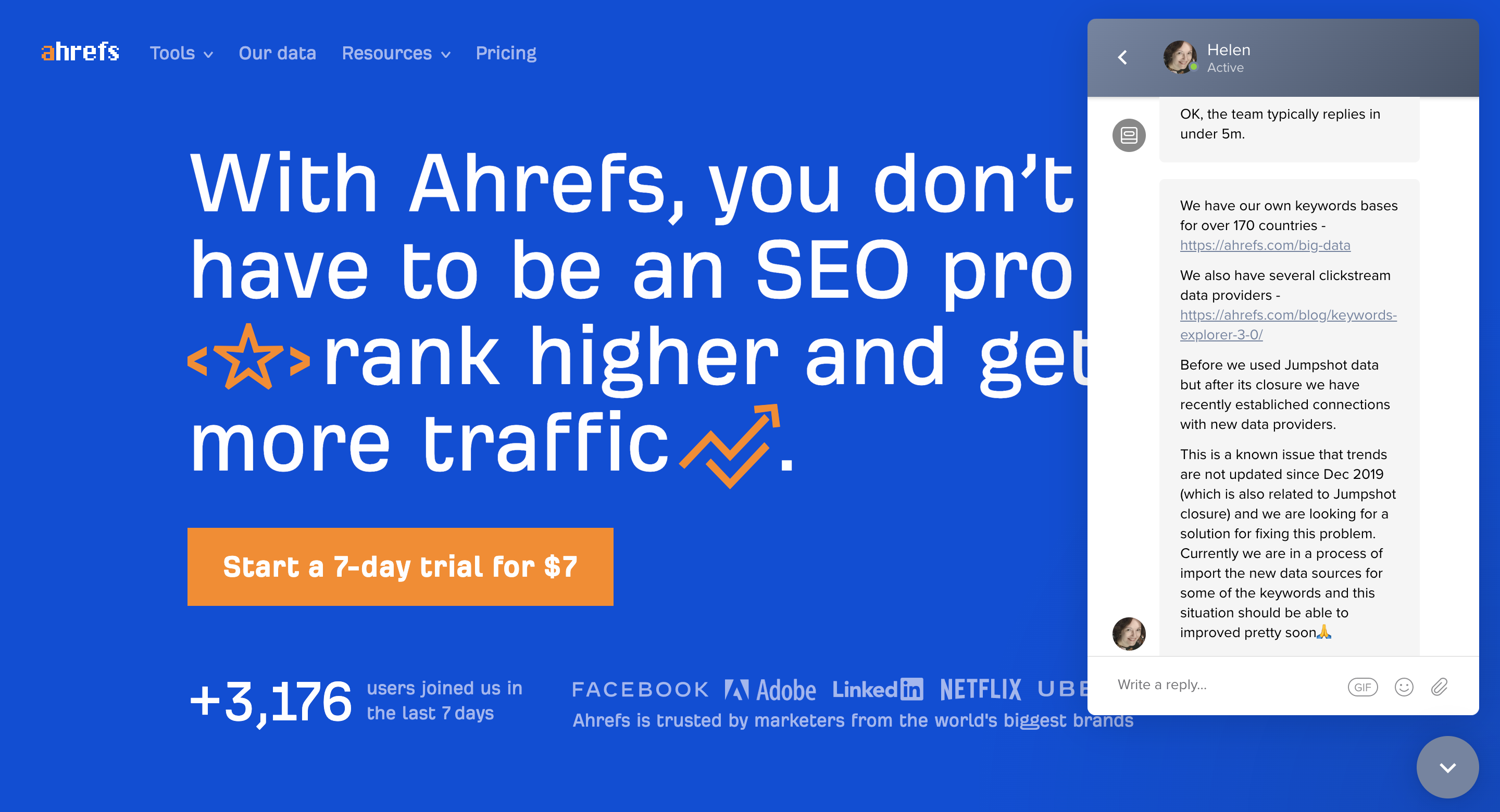 Ahrefs Customer Support