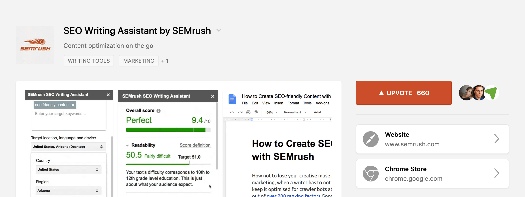 SEMrush SEO Writing Assistant Review – Product Hunt