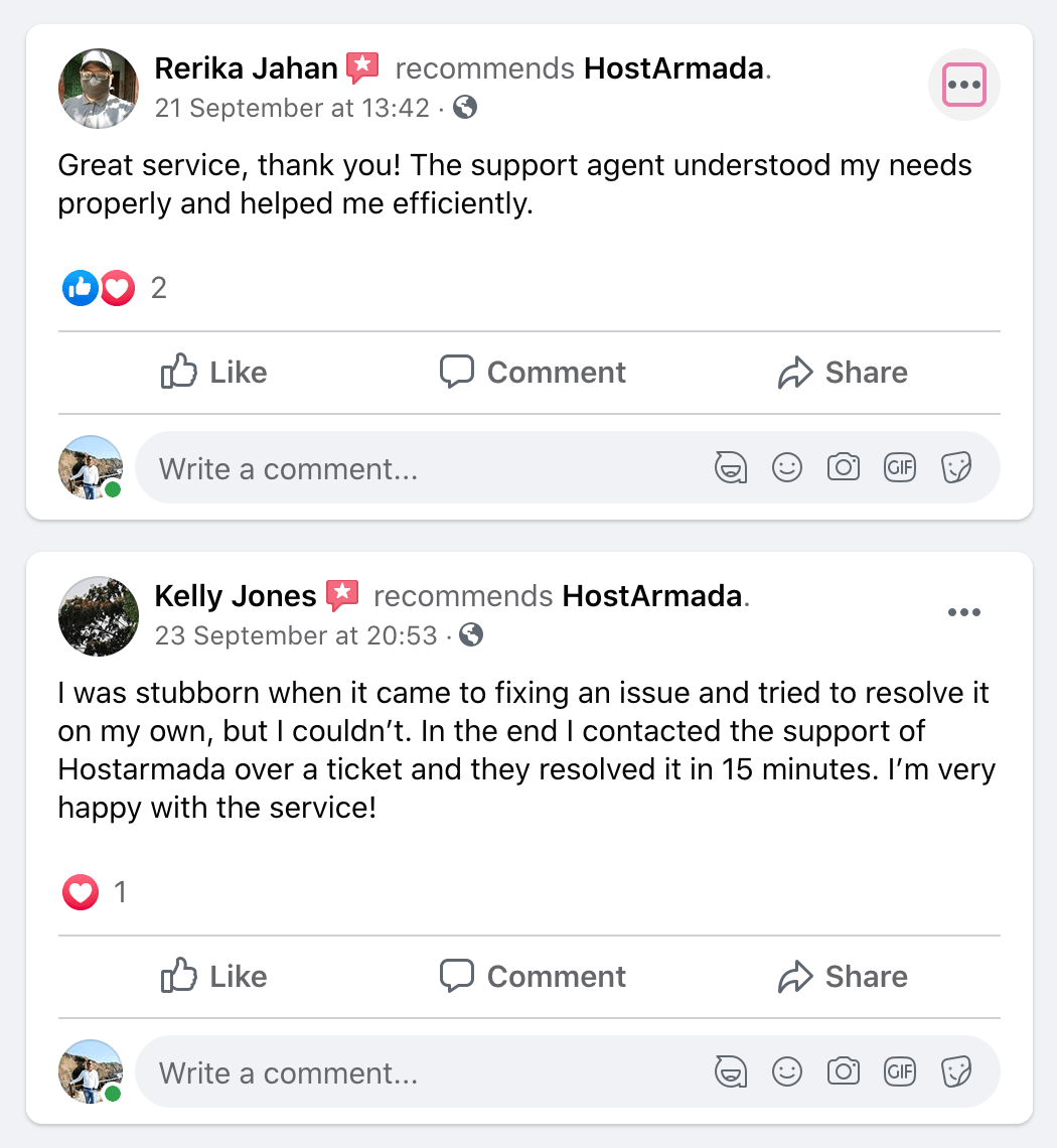 HostArmada Review Facebook