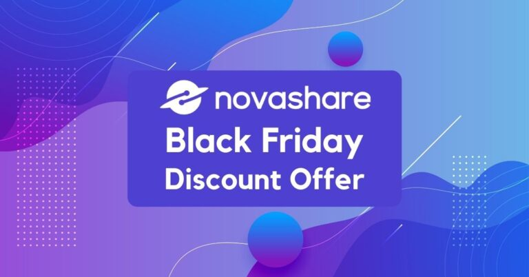 Novashare Black Friday Deals 2020 | 30% Instant Discount