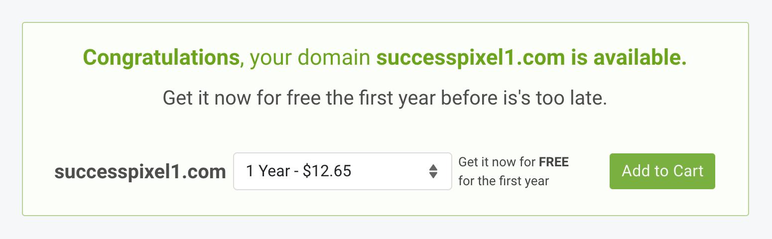 ScalaHosting Free Domain