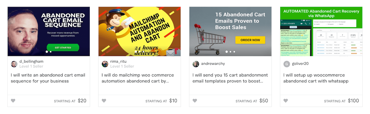 Fiverr Abandoned Cart Sequences Gigs