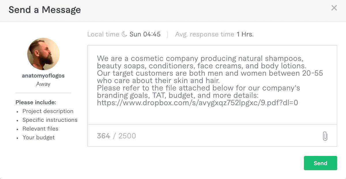 Fiverr – Contact Seller