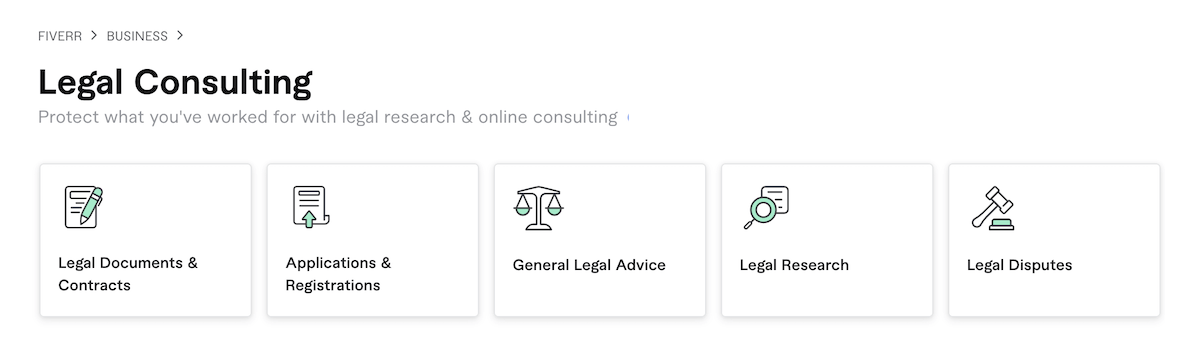 Fiverr Legal Consulting Services