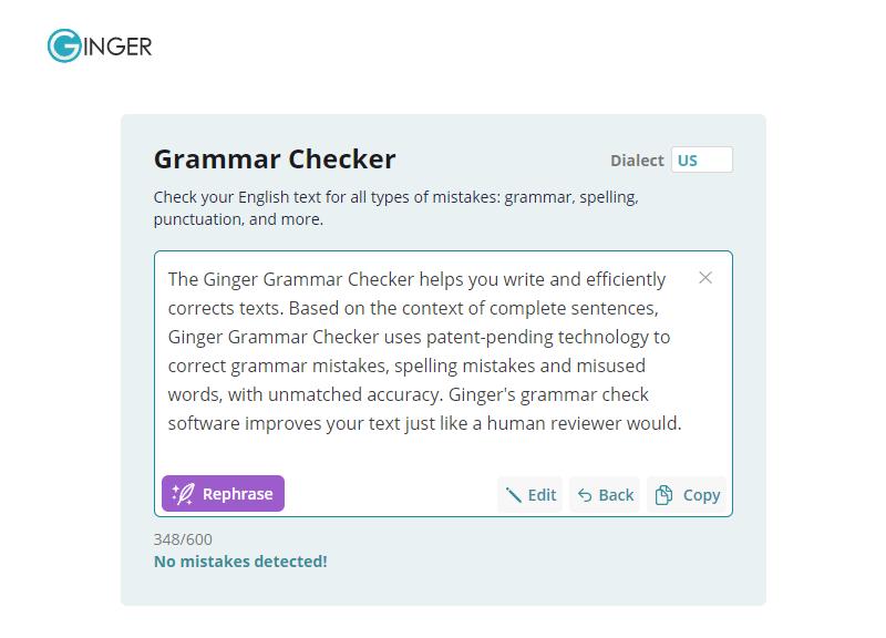 Ginger Software Best Grammarly Alternative