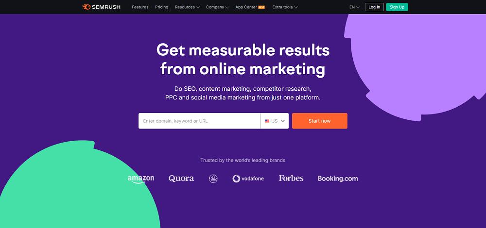 Semrush Homepage, Semrush.com