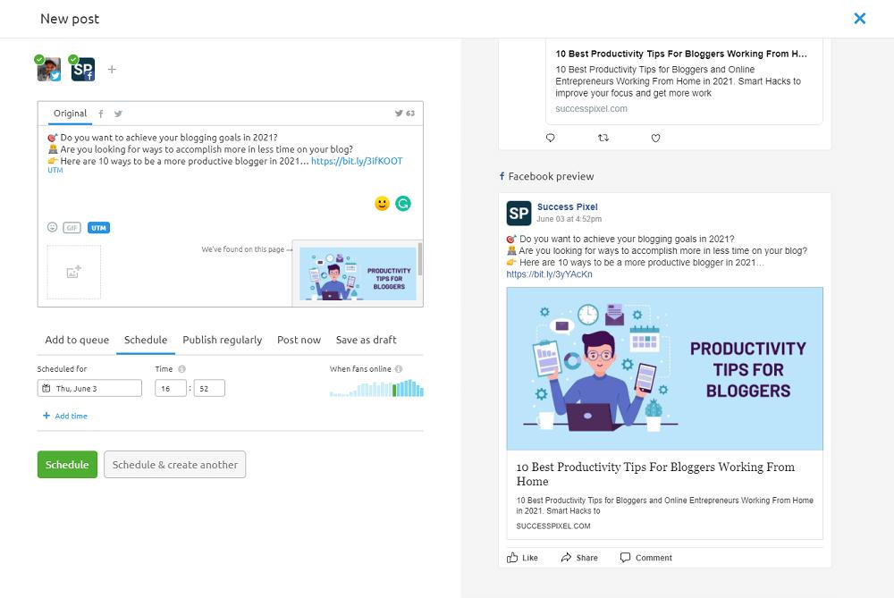 Semrush Social Media Poster