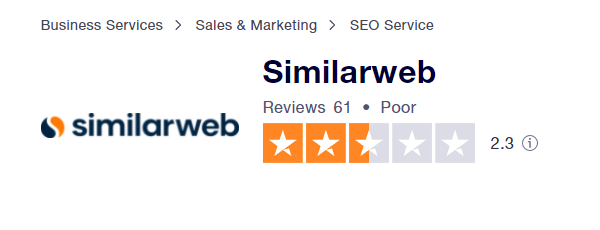 Similarweb Trustpilot Ratings