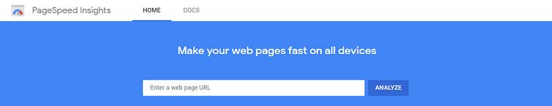Google PageSpeed Insights Analysis
