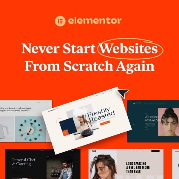 Elementor Kits Never Start a Website From Scratch Again Orange