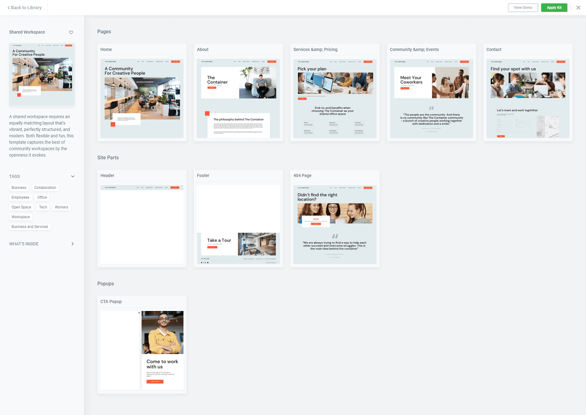 Elementor Website Kit Overview