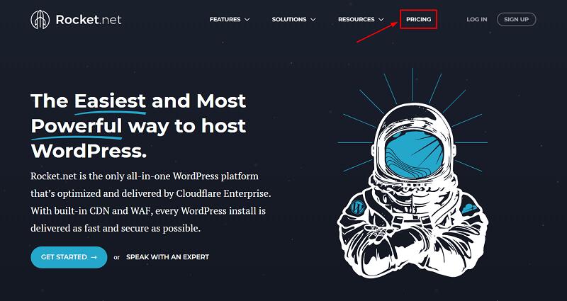 Rocket.net Coupon Code, Rocket Hosting Website Homepage