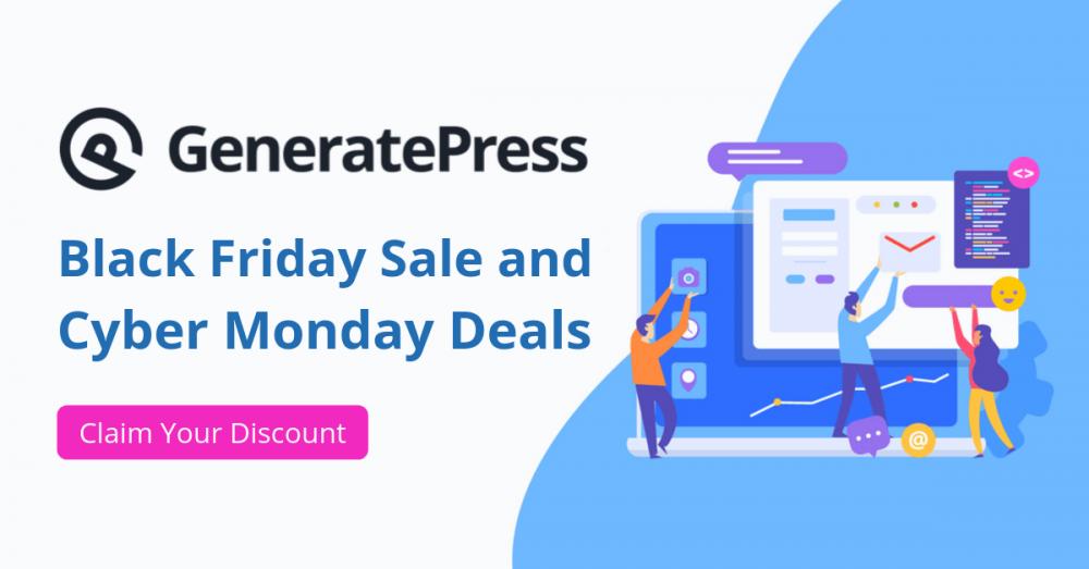 GeneratePress Black Friday Sale and Cyber Monday Deals, GP Premium Black Friday Coupon